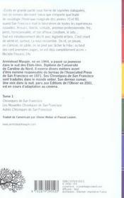 Chroniques de San Francisco ; INTEGRALE VOL.1 ; T.1 A T.3 - 4ème de couverture - Format classique