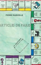 Articles de paris, precede de : le sens du portail - Couverture - Format classique