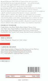 Europe raymond queneau 888 avril 2003 - 4ème de couverture - Format classique