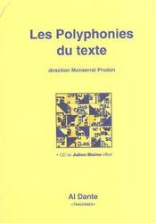 Les polyphonies du texte - Intérieur - Format classique