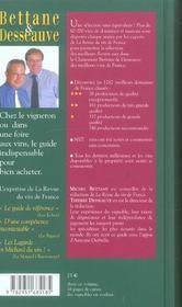Bettane et desseauve ; classement des meilleurs vins de france - 4ème de couverture - Format classique