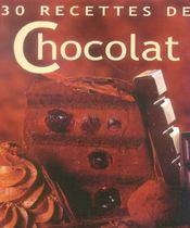 30 recettes de chocolat - Intérieur - Format classique