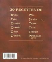 30 recettes de chocolat - 4ème de couverture - Format classique