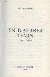 En Dautres Temps. 1900 1939. - Couverture - Format classique