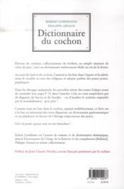DICTIONNAIRE DU COCHON (éd. revue et augmentée) - 4ème de couverture - Format classique