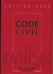 Code Civil 2000 - Intérieur - Format classique