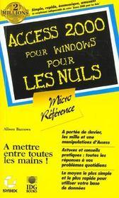 Access 2000 Microreference Pour Les Nuls - Intérieur - Format classique