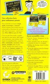 Access 2000 Microreference Pour Les Nuls - 4ème de couverture - Format classique