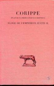 Éloge de l'empereur Justin II - Couverture - Format classique