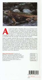 Guide equateur - 4ème de couverture - Format classique