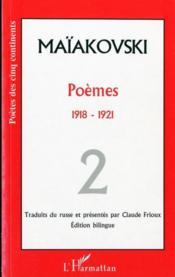 Poèmes t.2 ; 1918-1921 - Couverture - Format classique