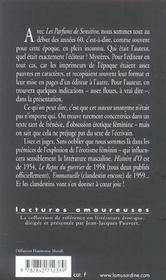 Les parfums de sensitive - 4ème de couverture - Format classique