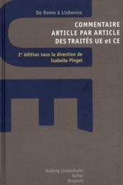 Commentaire et traités UE & CE ; de Rome à Lisbone (2e édition) - Couverture - Format classique