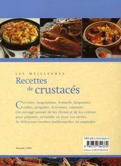 Les meilleures recettes de crustacés - 4ème de couverture - Format classique