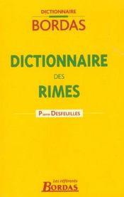 Dictionnaire Des Rimes - Intérieur - Format classique