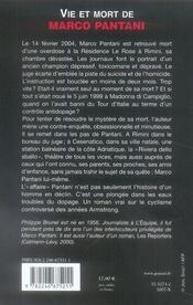 Vie et mort de Marco Pantani - 4ème de couverture - Format classique
