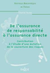 De l'assurance de responsabilite a l'assurance directe - volume 9 - Couverture - Format classique