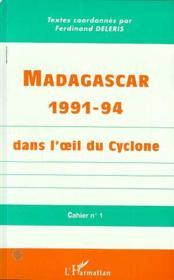 Madagascar 1991-94 Dans L'Oeil Du Cyclone ; Cahier N.1 - Couverture - Format classique