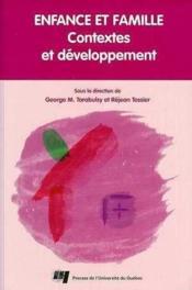 Enfance et famille. contextes et developpement - Couverture - Format classique