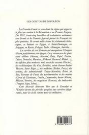 Les comtois de napoléon - 4ème de couverture - Format classique