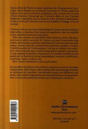 Pour une semiologie de la lettre - 4ème de couverture - Format classique