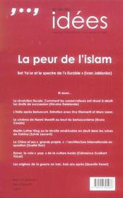 La vie des idees - numero 12 - mai 2006 la peur de l'islam - 4ème de couverture - Format classique