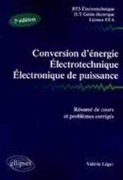 Conversion d'énergie électrotechnique, électronique de puissance (2e édition) - Couverture - Format classique