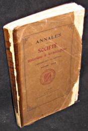 Annales de la Société historique et archéologique de l'Arrondissement de Saint-Malo. Année 1912 - Couverture - Format classique