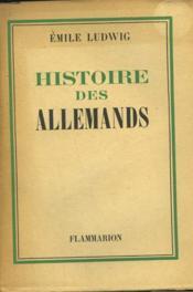 Histoire Des Allemands. - Couverture - Format classique