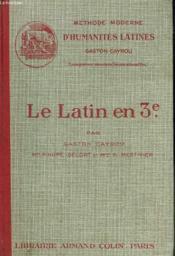 LE LATIN EN 3e. - Couverture - Format classique