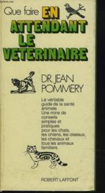 Que Faire En Attendant Le Veterinaire - Couverture - Format classique