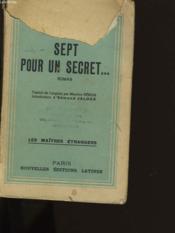 Sept Pour Un Secret. - Couverture - Format classique