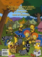 Les Simpson T.1 ; camping en délire - 4ème de couverture - Format classique