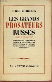 Les Grands Prosateurs Russes - Couverture - Format classique