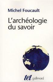 L'archéologie du savoir - Intérieur - Format classique