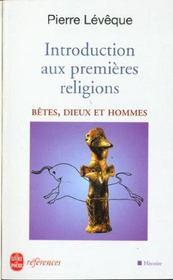 Introduction Aux Premieres Religions - Intérieur - Format classique