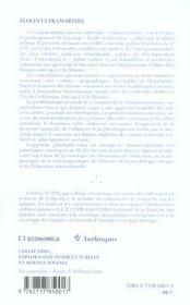 Ecoles Ultramarines ; Univers Creoles 5 - 4ème de couverture - Format classique