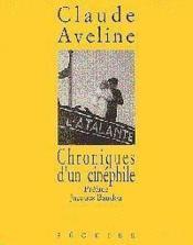 Chroniques Dun Cinephile - Couverture - Format classique