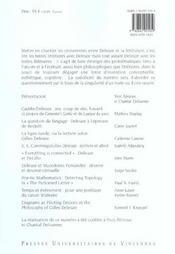 Revue Theorie Litterature Enseignement N.19 ; Deleuze-Chantier - 4ème de couverture - Format classique