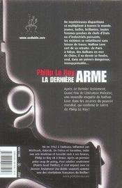 La dernière arme - 4ème de couverture - Format classique