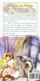 Le loup des Monges t.1 - 4ème de couverture - Format classique