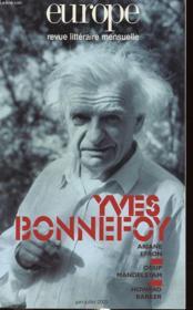 Euro Yves Bonnefoy N 890 891 Juin Juillet 2003 - Couverture - Format classique