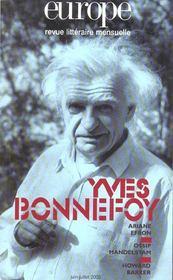 Euro Yves Bonnefoy N 890 891 Juin Juillet 2003 - Intérieur - Format classique
