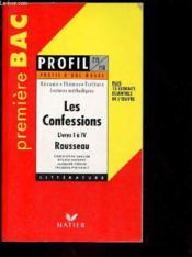 Les Confessions. Livres I A Iv - Couverture - Format classique