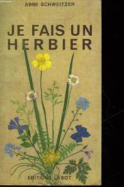 Je Fais Un Herbier - Couverture - Format classique