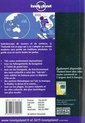 Thailande ; Guide De Voyage - 4ème de couverture - Format classique