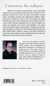 L'Incursion Des Italiques - 4ème de couverture - Format classique