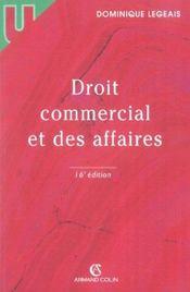Droit Commercial Et Des Affaires - Intérieur - Format classique