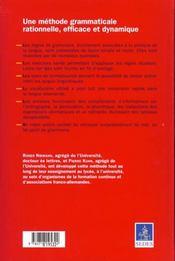 Nouvelle grammaire appliquee de l'allemand - 4ème de couverture - Format classique