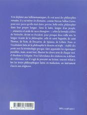 Latin De La Philosophie 2e Edition - 4ème de couverture - Format classique